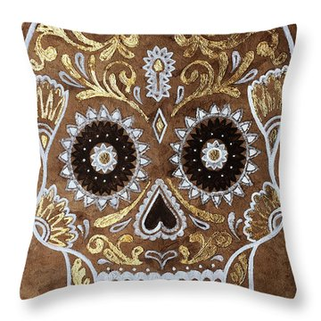 Throw Pillow featuring the painting Day Of Death by J- J- Espinoza