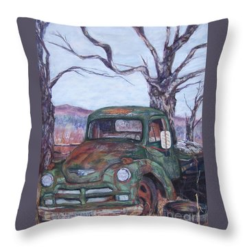Day Of Rest - Old Friend Iv Throw Pillow by Alicia Drakiotes