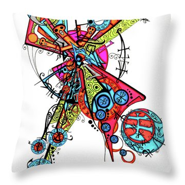 Day Of The Dead Cross Throw Pillow
