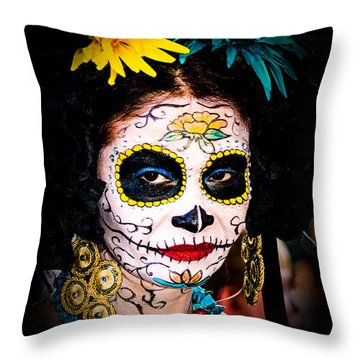 Day Of The Dead Eyes Throw Pillow
