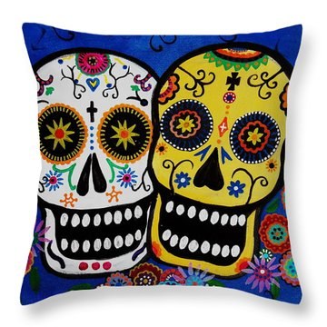 Day Of The Dead Sugar Throw Pillow