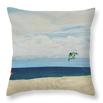 Day On Beach Throw Pillow