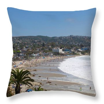 Day On The Beach Throw Pillow