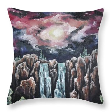 Day One, The Beginning Throw Pillow by Cheryl Pettigrew