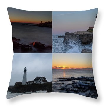 Day Or Night In Any Season Throw Pillow