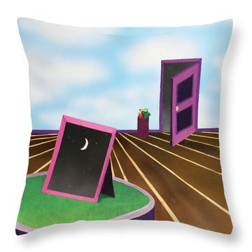 Day Throw Pillow by Thomas Blood