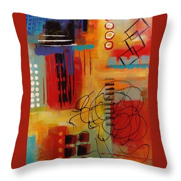 Day Two...30 In 30 Challenge Throw Pillow by Suzzanna Frank