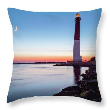 Daybreak At Barnegat Throw Pillow by Eduard Moldoveanu