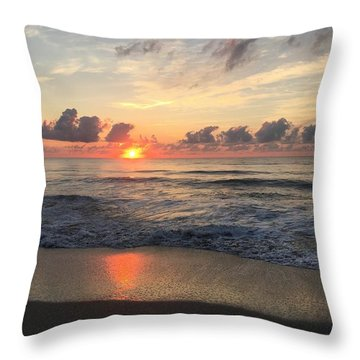 Daybreak At Cocoa Beach Throw Pillow