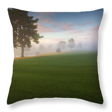 Daybreak At Willowcreek Throw Pillow