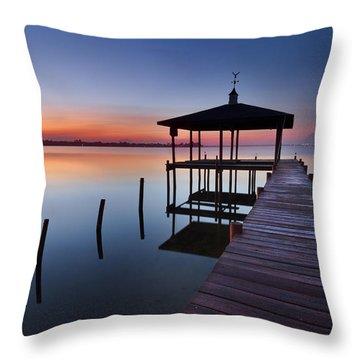 Daybreak Throw Pillow by Debra and Dave Vanderlaan