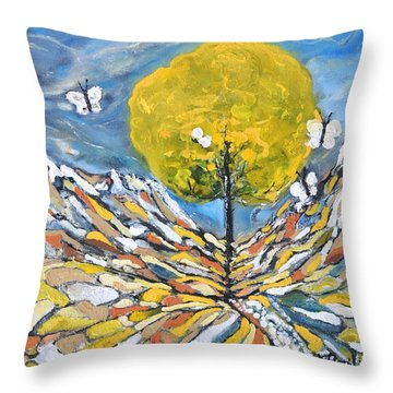 Daybreak Throw Pillow by Evelina Popilian