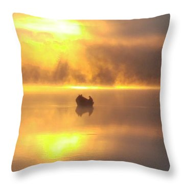 Daybreak Fishermen Throw Pillow