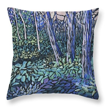 Throw Pillow featuring the painting Daybreak by Joanne Smoley