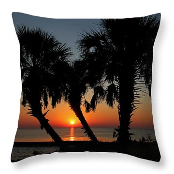 Throw Pillow featuring the photograph Daybreak by Judy Vincent