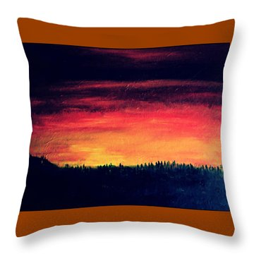 Daybreak Number Four Throw Pillow by Scott Haley