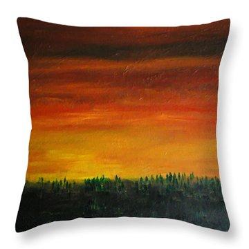 Daybreak Number Three Throw Pillow by Scott Haley