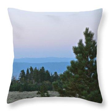 Daybreak On The Mountain Throw Pillow