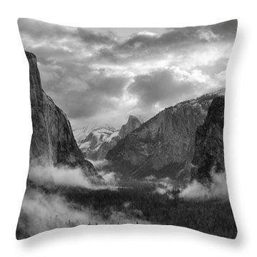 Daybreak Over Yosemite Throw Pillow