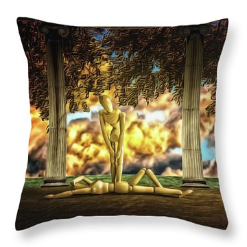 Throw Pillow featuring the photograph Daybreak Redux by Mark Fuller