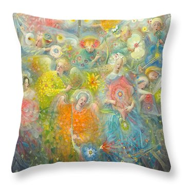 Daydream After The Music Of Max Reger Throw Pillow by Annael Anelia Pavlova