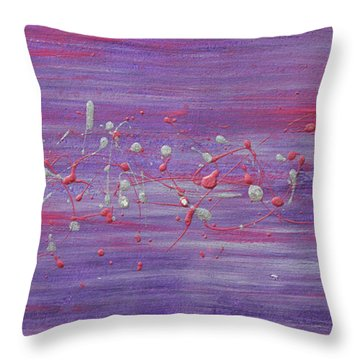 Daydream In Purple Throw Pillow