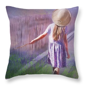 Daydreamer Throw Pillow by Wallaroo Images