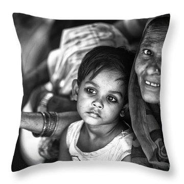 Daydreaming Little Princess Throw Pillow