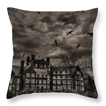 Daydreams Darken Into Nightmares Throw Pillow by Evelina Kremsdorf