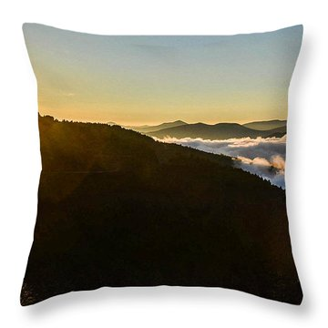 Daylight Above The Clouds Throw Pillow