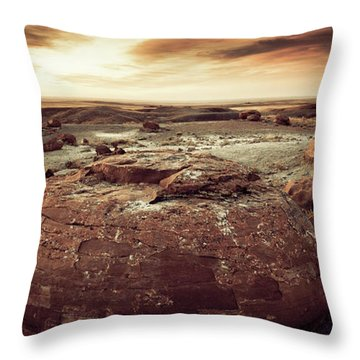 Daylight Leaving Redrock Throw Pillow