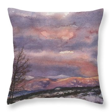 Throw Pillow featuring the painting Daylight's Last Blush by Anne Gifford