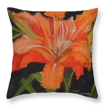 Daylily Study IIi Throw Pillow by Jean Blackmer