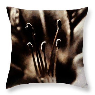 Daylily Study Throw Pillow