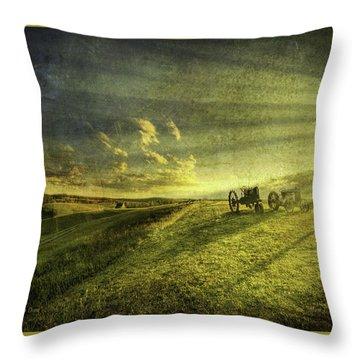 Days Done Throw Pillow by Mark T Allen