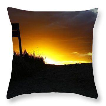 Throw Pillow featuring the photograph Days End by Greg DeBeck