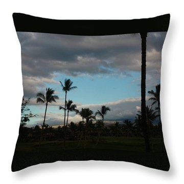 Days End Hawaii Throw Pillow