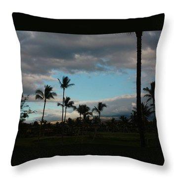Days End Hawaii Throw Pillow by Ellen O'Reilly