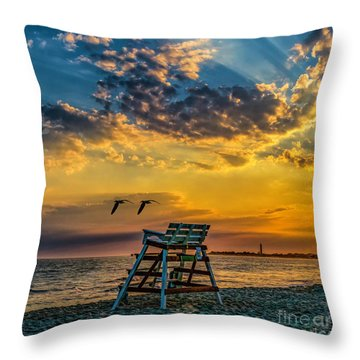 Days End In Cape May Nj Throw Pillow