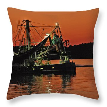 Throw Pillow featuring the photograph Days End by Margaret Palmer