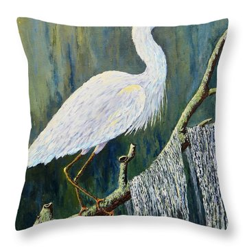 Days End Throw Pillow by Suzanne Theis