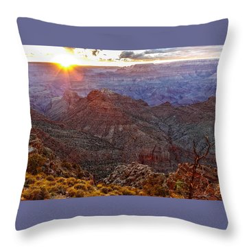 Days Ending Light Throw Pillow
