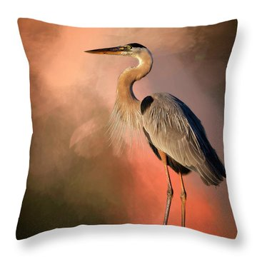 Day's Fiery End Throw Pillow