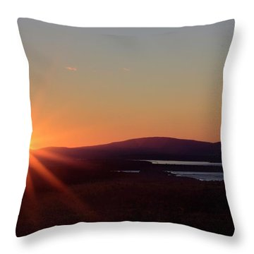 Throw Pillow featuring the photograph Days First Light IIi Hdr by Greg DeBeck