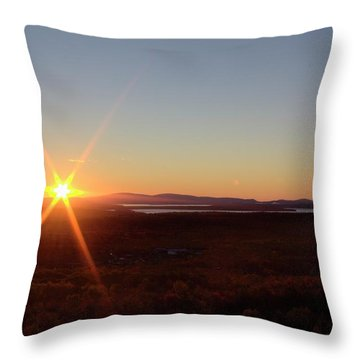 Throw Pillow featuring the photograph Days First Light Iv Hdr by Greg DeBeck