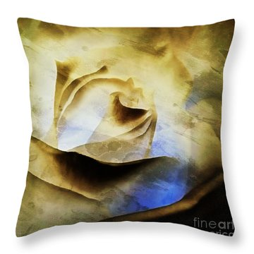 Throw Pillow featuring the painting Days Go By - Rose - Dreamscape by Janine Riley