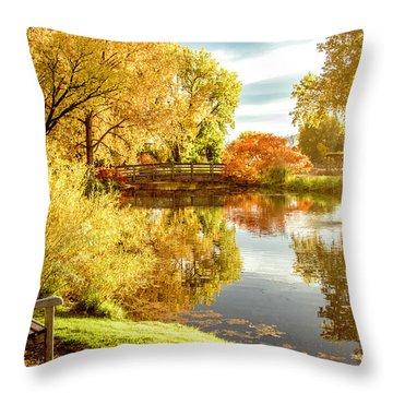 Days Last Rays Throw Pillow by Kristal Kraft