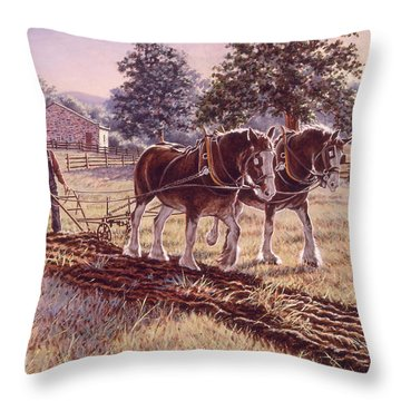 Days Of Gold Throw Pillow
