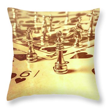 Days Of Old Game Play Throw Pillow