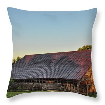 Days Of Thunder Barn Throw Pillow